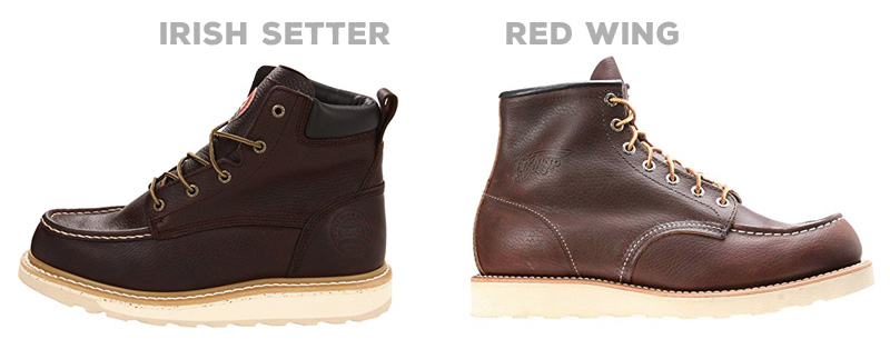 Side by side: Irish Setter vs Red Wing