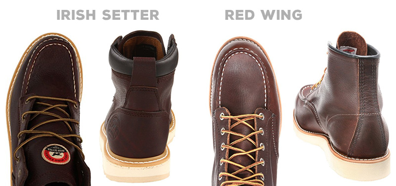 Irish Setter vs Red Wing: Construction comparison