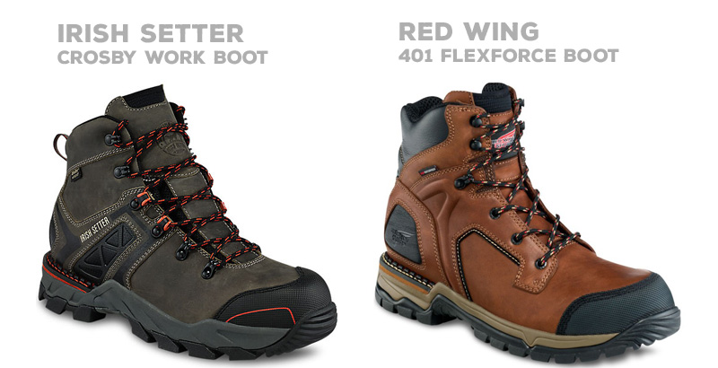 Irish Setter vs Red Wing work line of boots