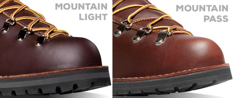 Mountain Light's Vibram Keltterlift outsole vs Mountain Pass' Vibram Kletterlift Thin