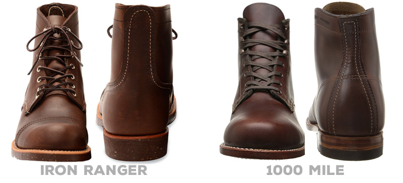 Iraon Ranger vs 1000 Mile: Differences in construction
