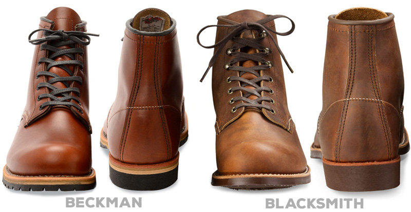 Red Wing Bleckman vs Blacksmith front and back