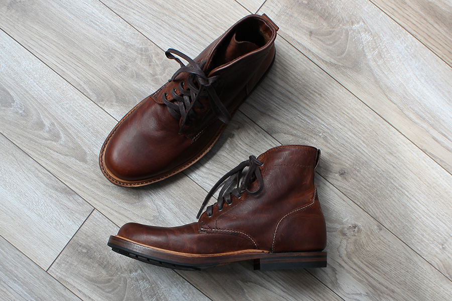 Sutro Charlton boots in Cognac full grain leather.