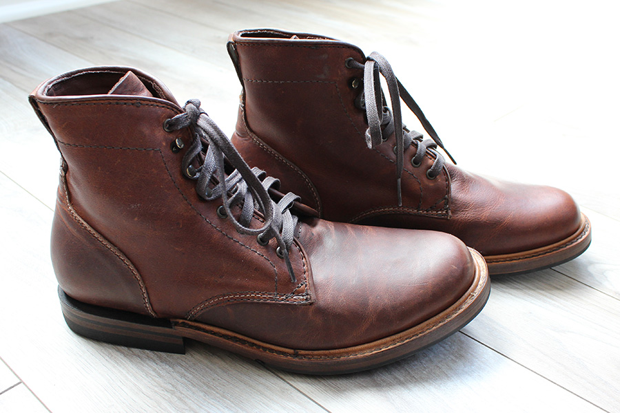 Signs of life: Cognac full grain leather uppers
