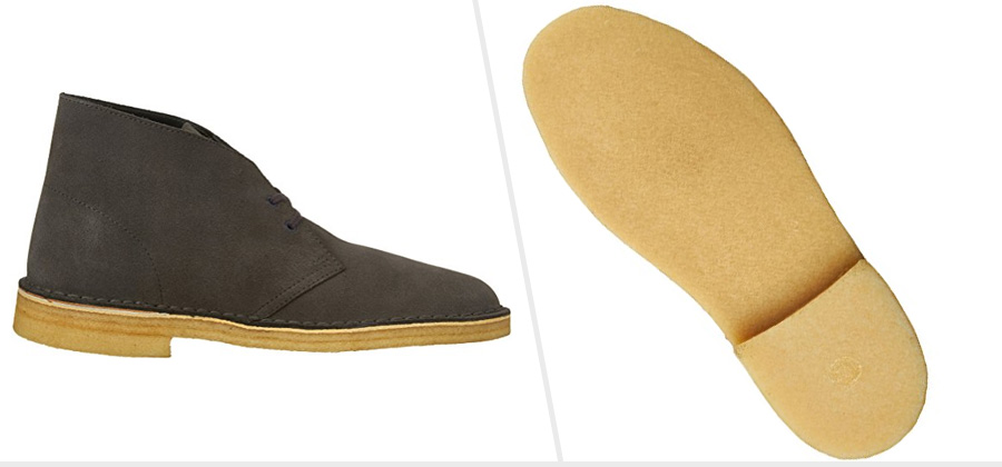 Crepe Sole Boots: Clark's Desert Boots ( Amazon )