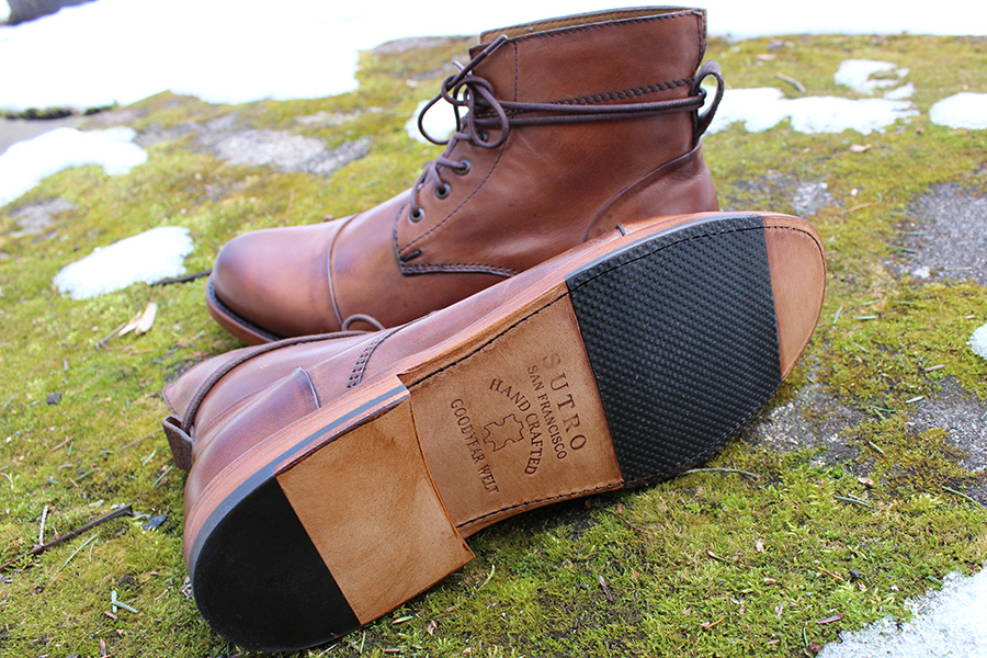 Sutro Footwear: Goodyear welt construction