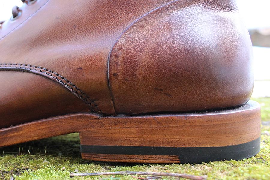 Sutro Footwear stacked leather heel
