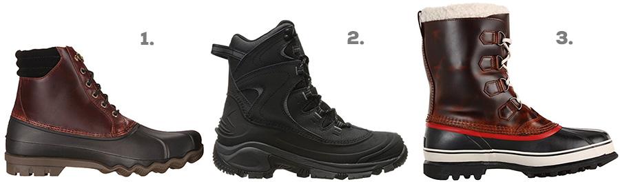 1. Sperry Top-Sider Avenue Duck Boot ( Amazon )  2. Columbia Bugaboot II Snow Boot ( Amazon )  3. Sorel Caribou Wool Boot ( Amazon )