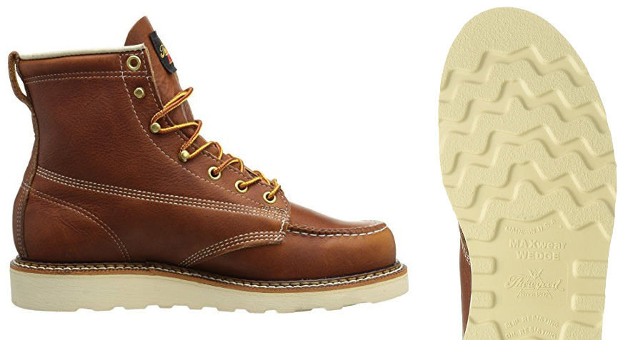 "MaxWear Wedge Sole on the Thorogood 6"" Moc Toe ( Amazon )"