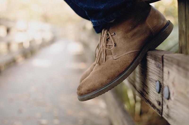 Clarks Bushacre 2 Desert boots on feet