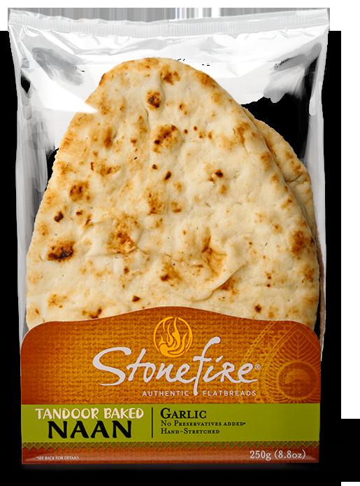 Stonefire Garlic Tandoor Baked Naan