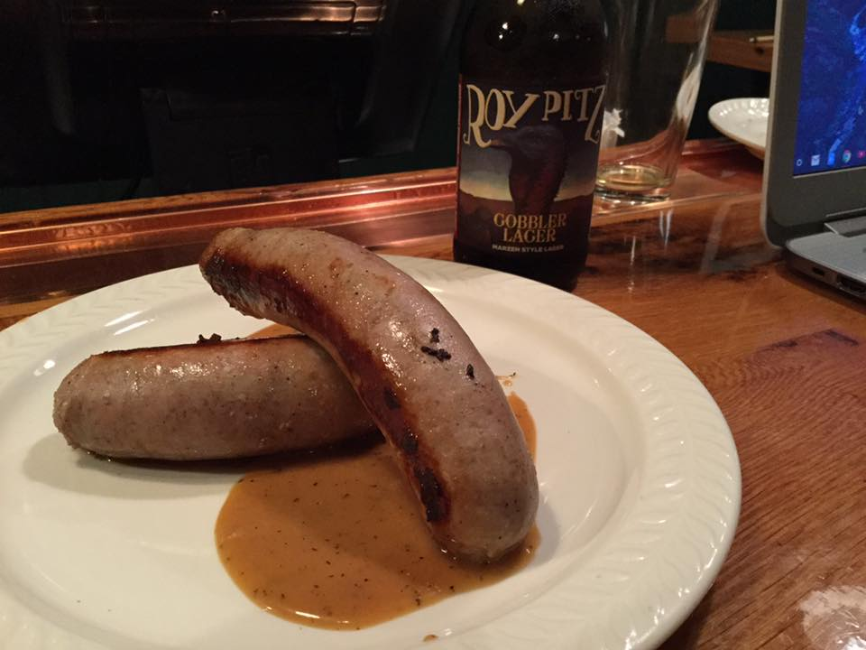 Gobbler Weisswurst made from our friends at Painted Hand Farms