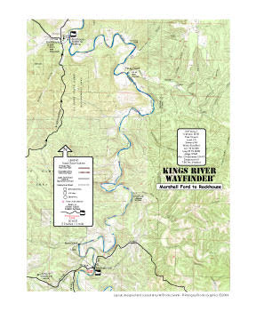 Kings Rive Marshall Ford to Rockhouse map