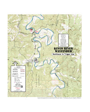 Kings River Rockhouse to Trigger Gap Map
