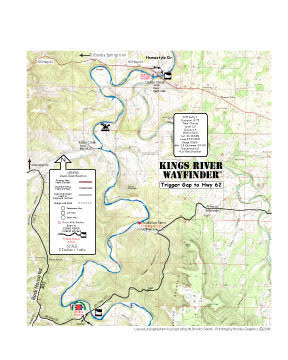 Kings River Arkansas Trigger Gap to Hwy 62 Map