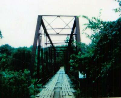 Old Kings River Arkansas bridge
