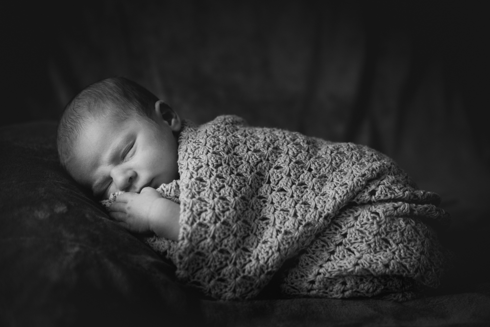 Shepreth Cambridgeshire newborn photography black & white
