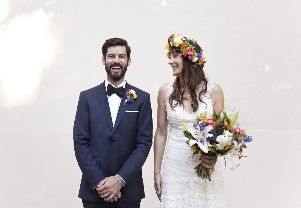 Folklore Hochzeit Brautstrauß Bunt