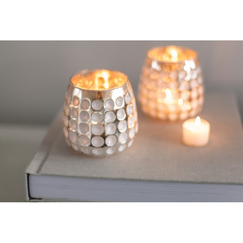 teelichtglas Kerzenhalter Silber-Gold