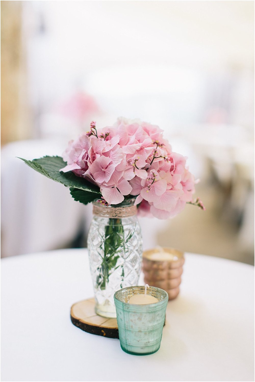 Hortensie rosa Hochzeit