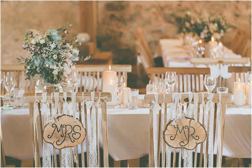 Dekoration Brautpaarstühle