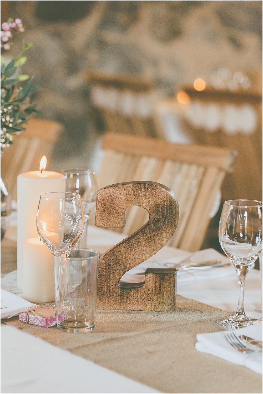 Tischnummer Holz groß