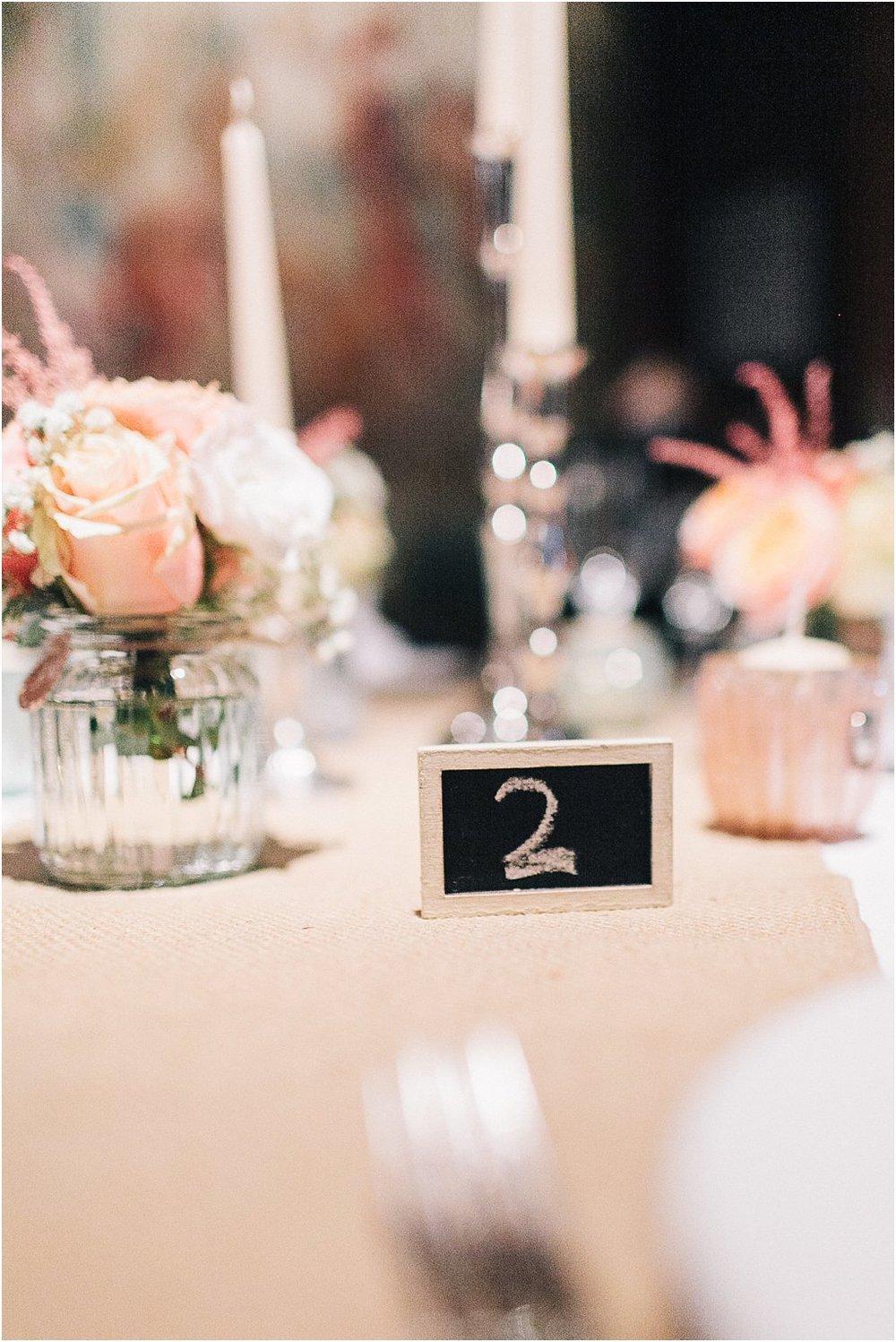 Tischnummer Tafel klein