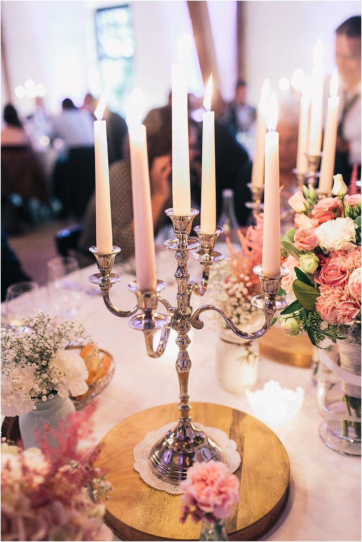 Tischdeko Vintage mit Kerzenleuchter