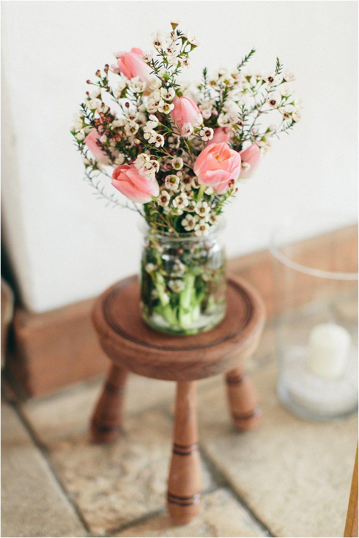 Floristik Hochzeit Tulpen Wax Flower
