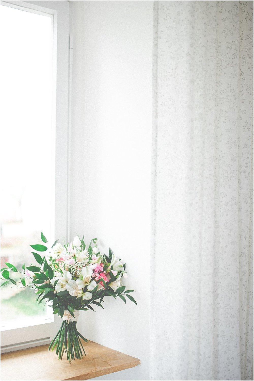 Brautstrauß Vintage grün weiß