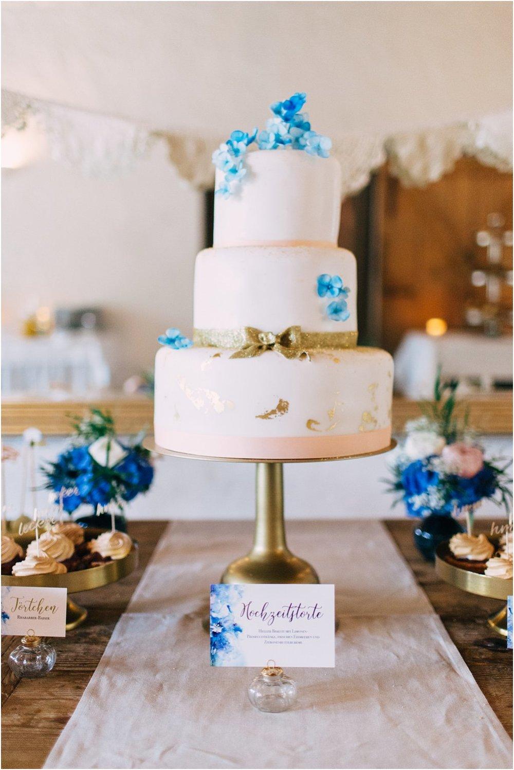 Hochzeitstorte Bau-Gold