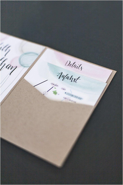 Pocketeinladung offen, 2 Einsteckkarten
