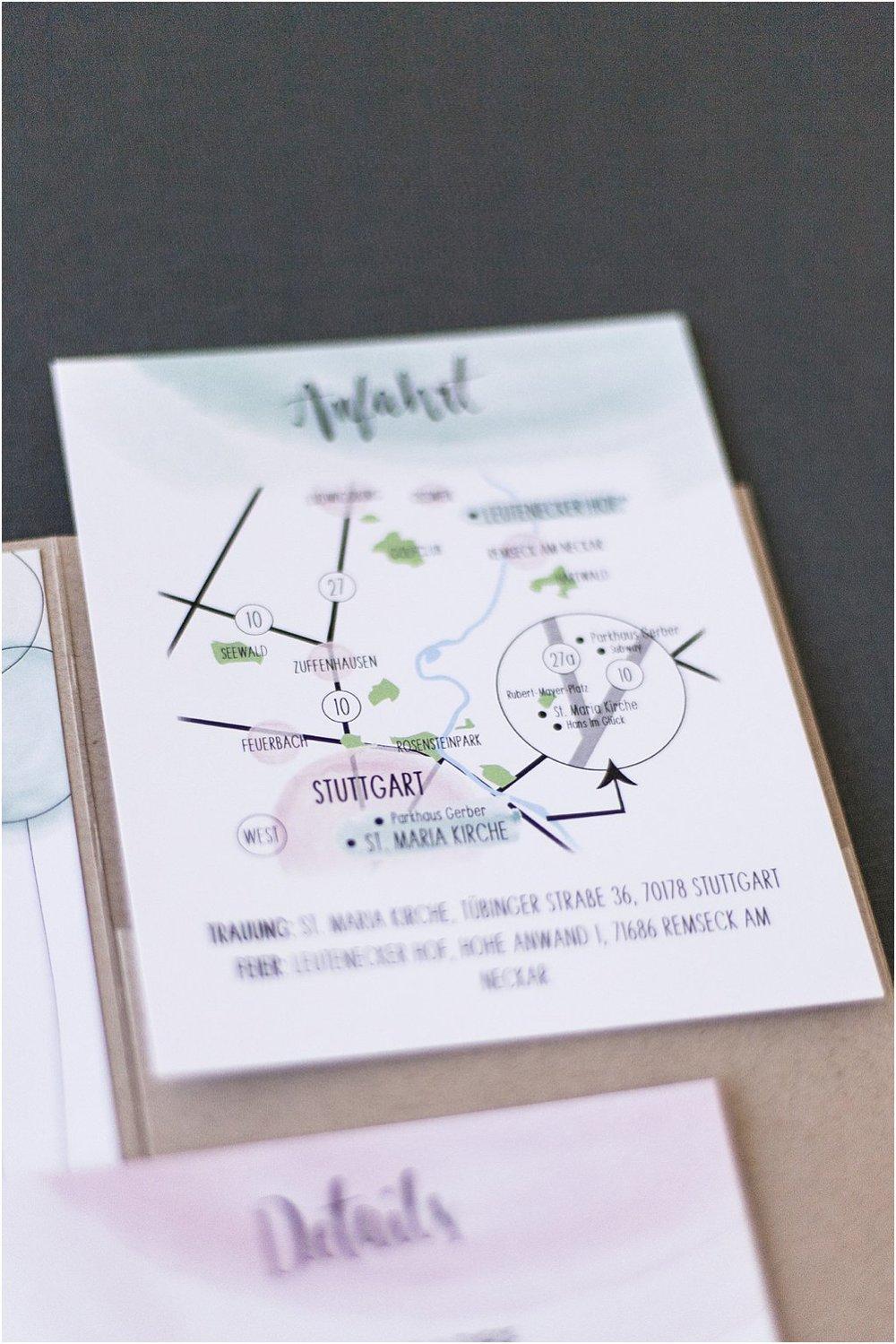 """Detailansicht Einstechkarte """"Anfahrt"""""""