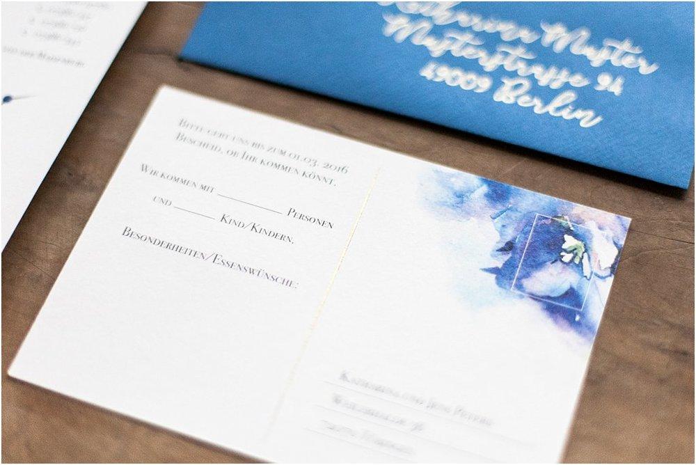 Detailansicht Antwortkarte Rückseite, Postkarte