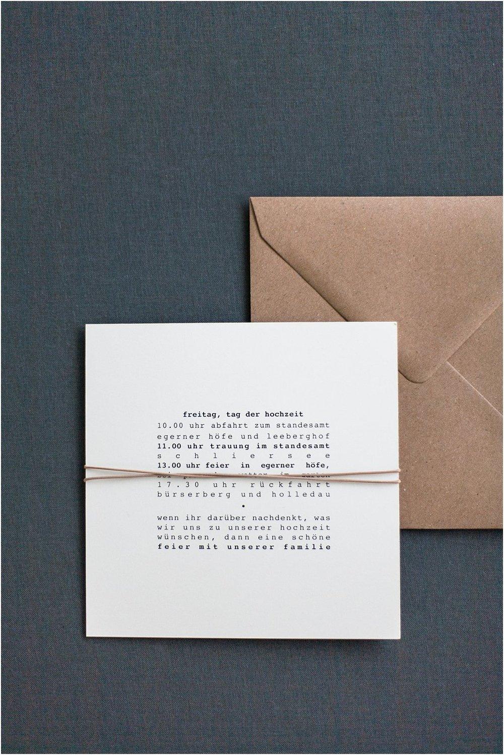 Rückseite gebundene Einladung