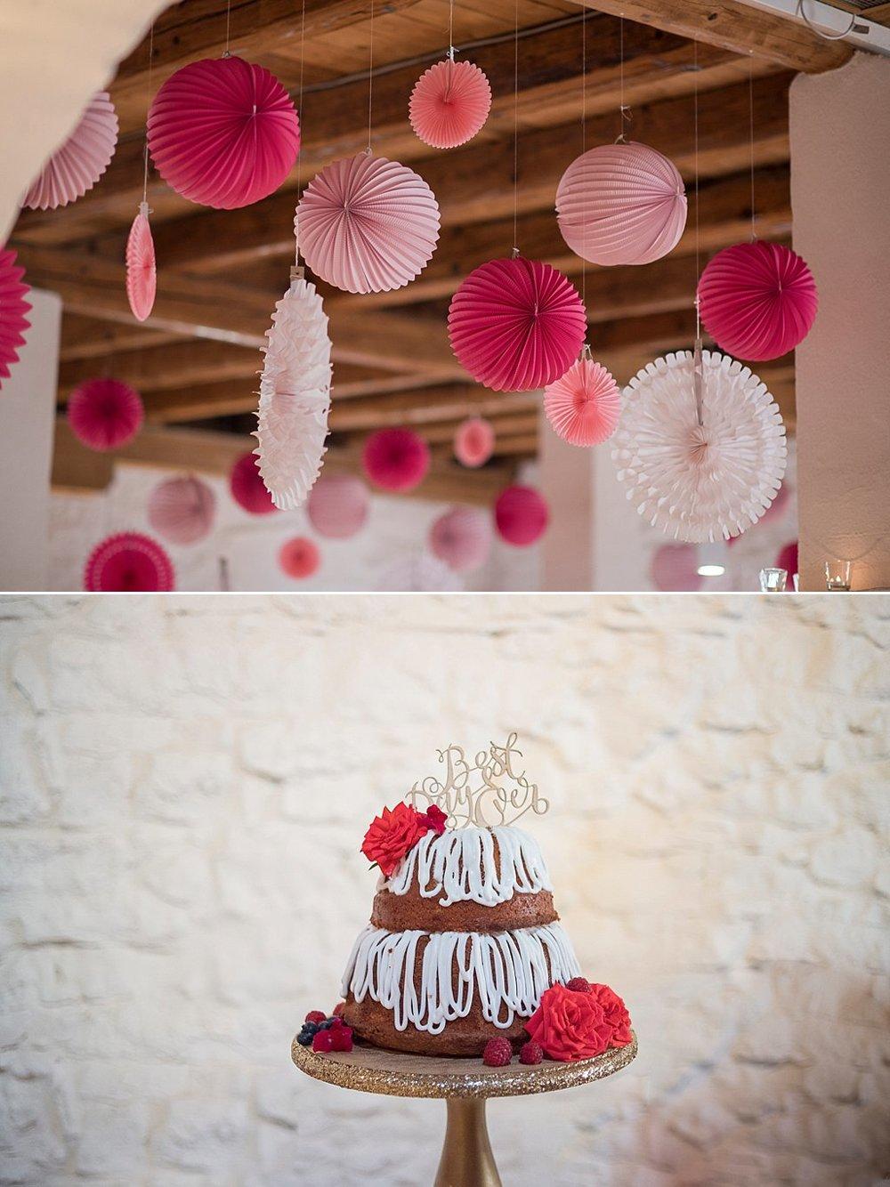 Raumdeka zur Hochzeit mit Laternen