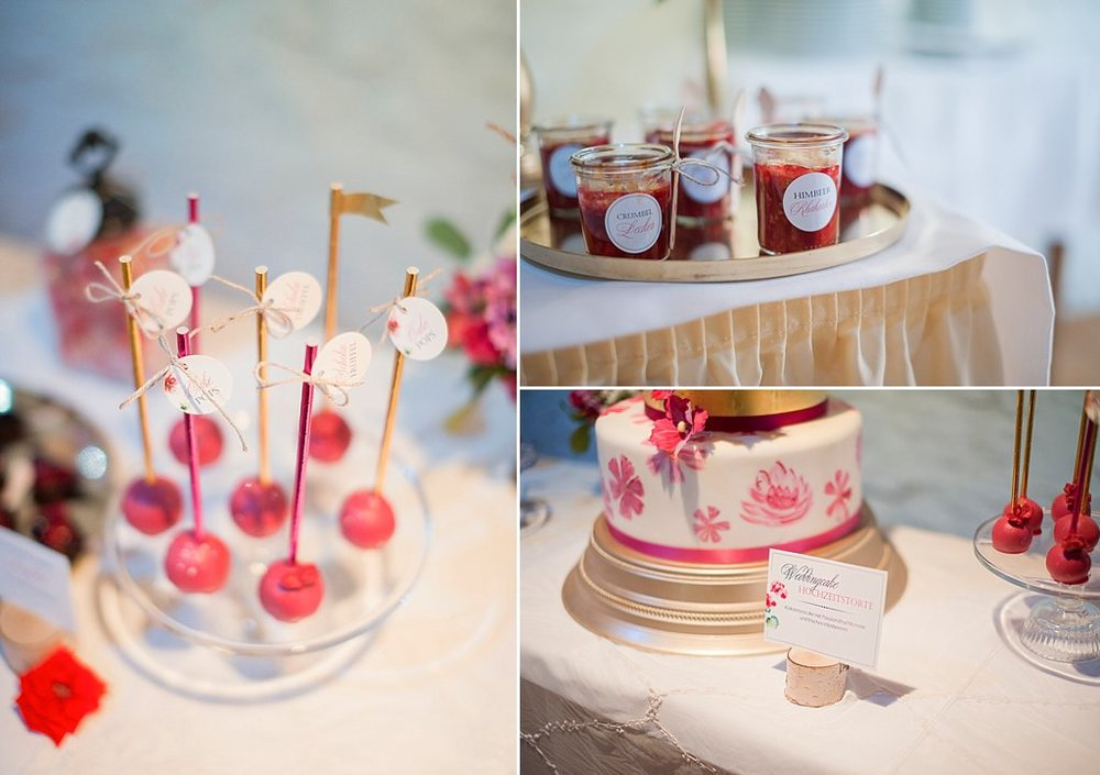 Candy bar Sweet Table Pink Gold