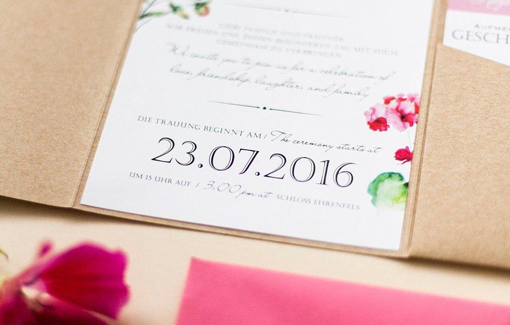 Detailansicht Einladungsschreiben