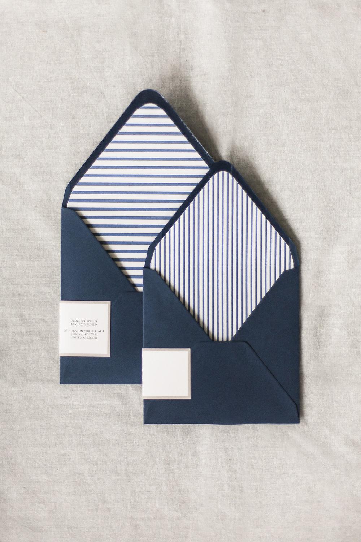 Briefumschläge mit Brieflinern