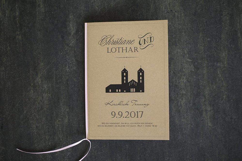 Kirchenheft geschlossen (Titelseite)
