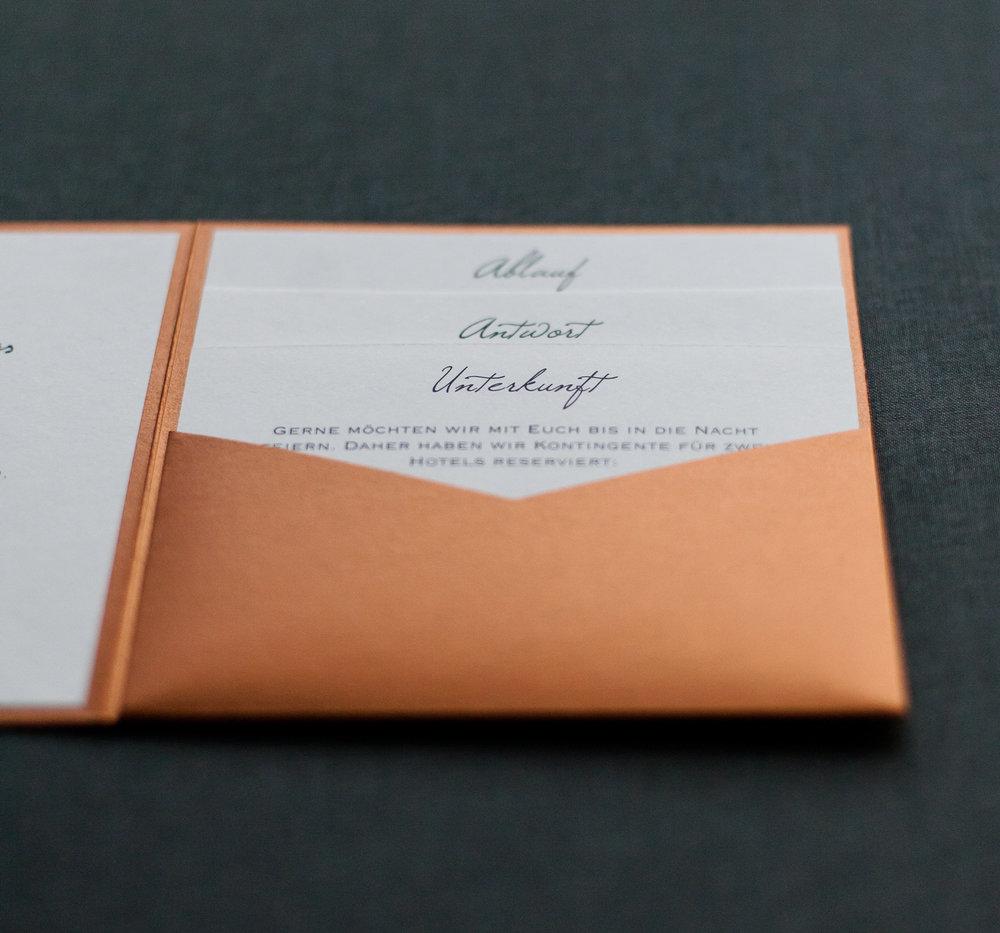 Pocketfold Einladung quadratisch mit 3 Einsteckkarten Einschüben