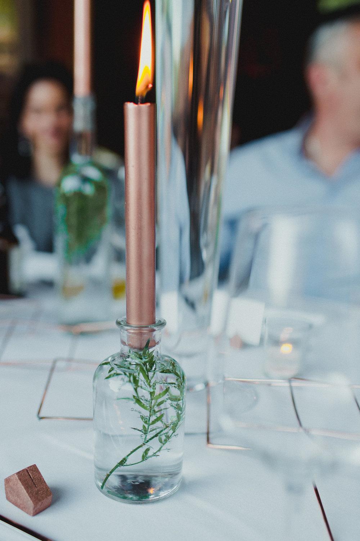 Kerzenständer Kupfer Urban Jungle Grennery Tischdeko