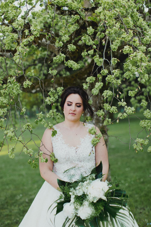 Brautstrauss weiß grün Braut 2018
