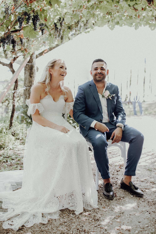Trauung Italienhochzeit Brautpaar 2018 Weinberge