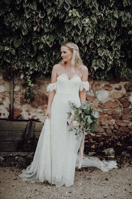 Braut 2018 Brautstrauß weiß pastelltöne Eukalyptus