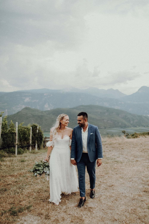 Brautpaar 2018 Italienhochzeit Südtirol