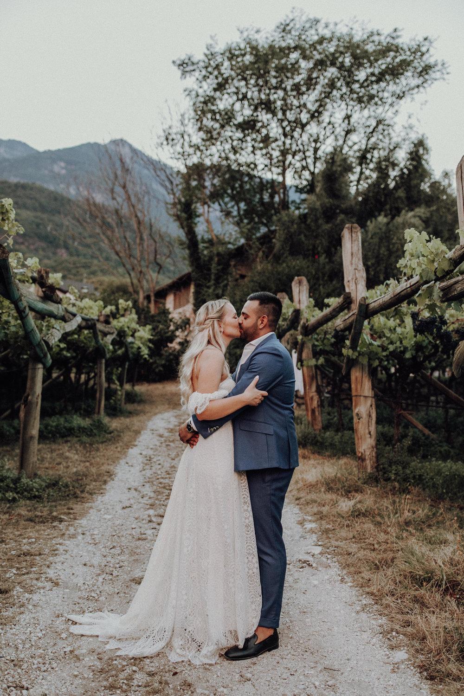 Brautpaar 2018 Hochzeit Südtirol Kalterer See