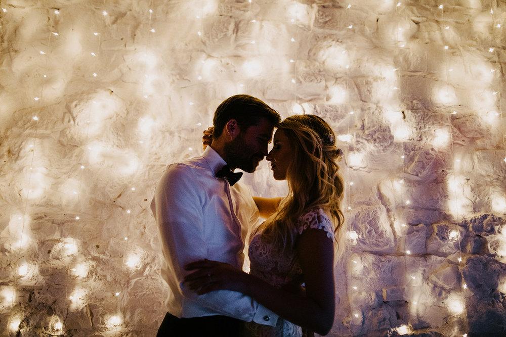 Lichterketten Stimmung Hochzeit