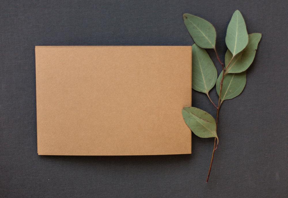 Dankeskarte mit Stanzung als Klappkarte, Rückseite