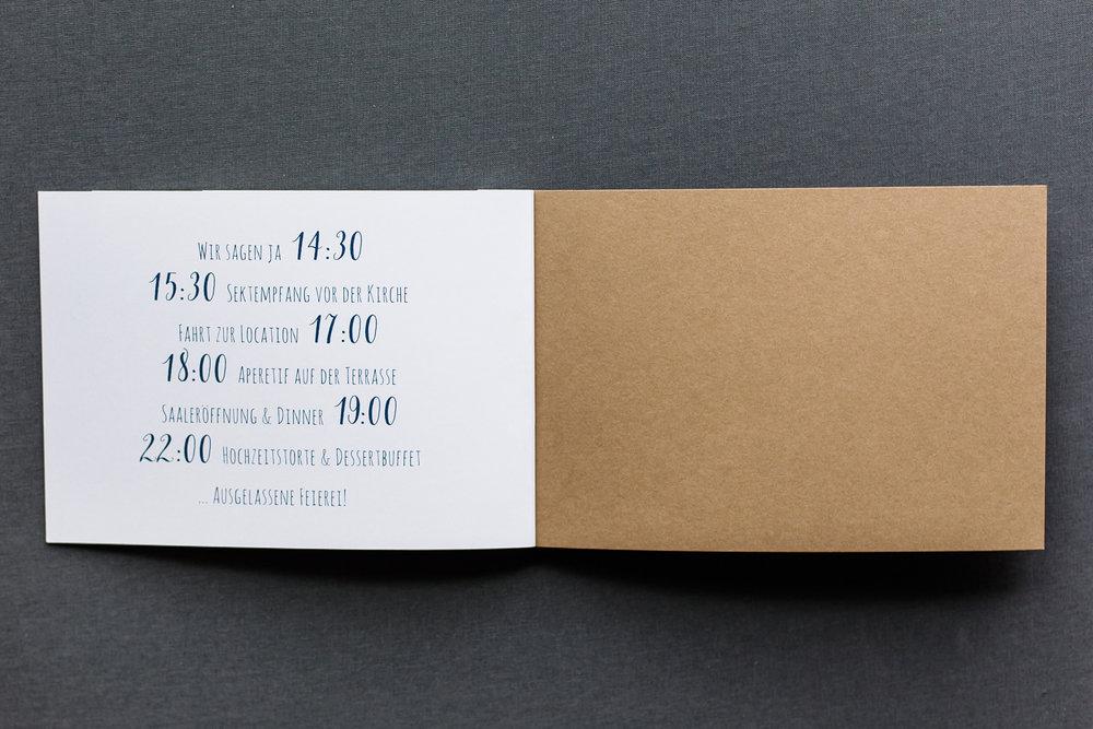 Booklets Einladung, geöffnet, Innenseite 4